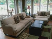 Complete Living Room Set includes sofa, chair and half