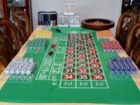 COMPLETE PROFESSIONAL ROULETTE LAYOUT $195 I have a