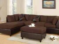 Our sectional with ottoman is our 2 piece set that we