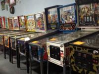 We have completely restored arcade games that include,