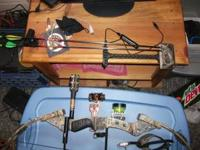 fred bear trx300 real tree bow compound bow only used