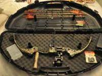 Compound Bow with case fully set up ready to hunt