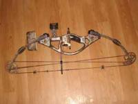 left handed hoyt compound bow. it is a hoyt mt sport