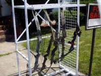 Compound bow rack comes with everything you see in