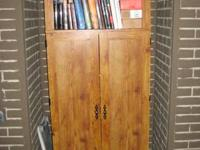 Computer cabinet/Armoire in good shape.    calls or