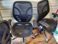 3 Real nice chairs with lumbar adjustments they are 25