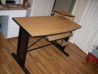 """Modern computer desk: 47"""" wide, 24"""" deep, 30' high"""