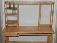 Wooden Computer desk with hutch. $130.00 new. sell