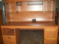 Computer desk. CD rack built in. Call  Location: Monroe