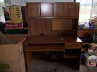 2 piece computer desk with drawer in lower part and