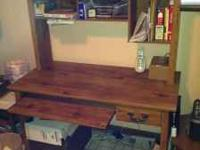 Wood computer desk in very good condition. Call  if