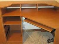 Corner Computer Desk with 2 drawers. Needs reassembled.