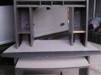 Pictures are of exact item for sale. High office desk.
