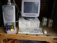 HP COMPUTER + SONY MONITOR + DELL COMPUTER BASE +
