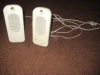 I have a set of 2 cream-colored speakers. I don't know
