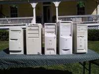 Five Complete Computers For Sale:  with Money Back