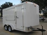 7 x 14 ft BRAND NEW CARGOMATE trailer has side vending
