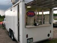 18x8.5 2008 Wells Cargo Concession Trailer. Equipped