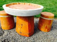 Just in time for Mother's Day! Concrete table sets,