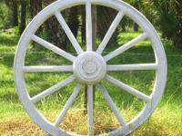 concrete wagon wheel - a realistic reproduction of a