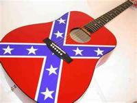 I'm selling a Indian brand rebel flag acoustic guitar.