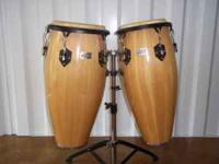 "Toca congas ""player's series."" Natural finish some"