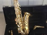 This is a Conn Alto saxophone, student design. It