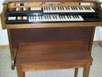Conn Organ in good condition with bench $500  Location: