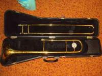 This is a conn trombone that is in good working order