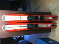 A pair of wide body Connelly water skis. These are