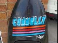 Used Connelly Winger KNEE Board. Has velcro straps for
