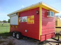 Food Trailer Specifics 16ft by 8ft, (2) 3500 lb Tandem
