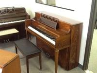 Kawai console piano with exotic African mahogany