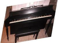VERY NICE CONSOLE PIANO - SATIN BLACK - EXCELLENT