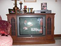 Description RCA console TV with picture in picture and