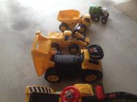 Here are some fun construction trucks that kids can