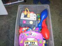 I have a container of baby and toddler toys. $5 for the