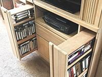 3-section Entertainment Center blonde wood finish -