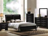 This contemporary bedroom collection reflects 2 choices