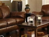 ASHLEY FURNITURE - Top Grain Leather Couch and