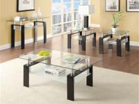 Black Metal Glass Coffee Table focuses on sleek,
