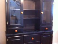 This Ashley Furniture two piece cabinet and hutch is a