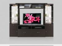 Contemporary entertainment center. Custom made in the