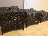Contemporary Metal Nesting Boxes. Very sturdy, a bit
