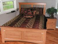Beautiful contemporary queen bed with accompanying two