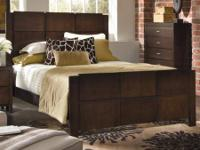 Brand new in Box Queen size Modern Panel Bed In Dark