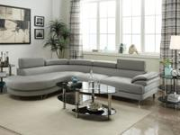 Contemporary Sectional Sofa in light Grey or White -