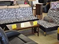 Fulton Contemporary Sofa Bed Group W 2 Ottomans For Sale