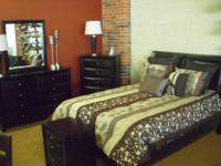 Beautiful Padded Headboard Platform bedroom set by