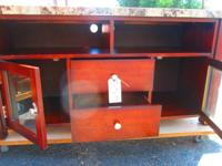 CONTEMPORARY TERRAZIO TV STAND - $75  DIMENSIONS:  25